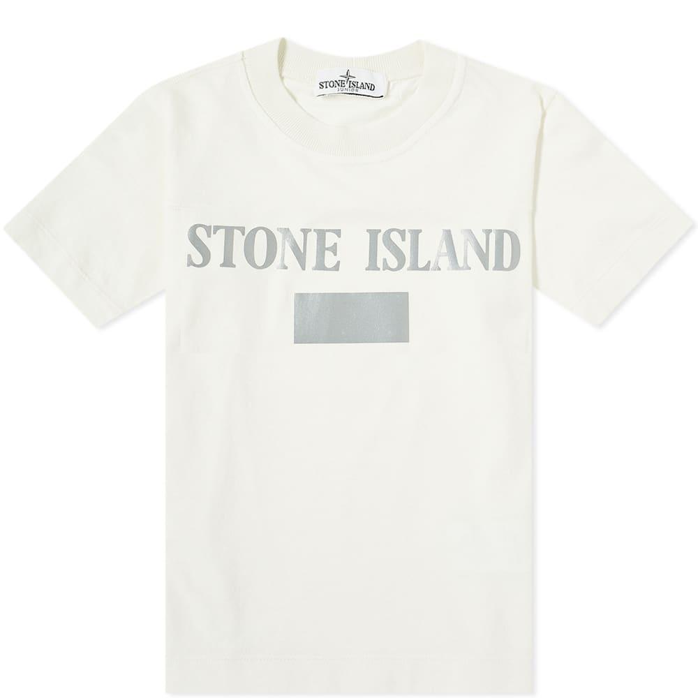 Stone Island Junior Reflective Logo Tee - Ivory