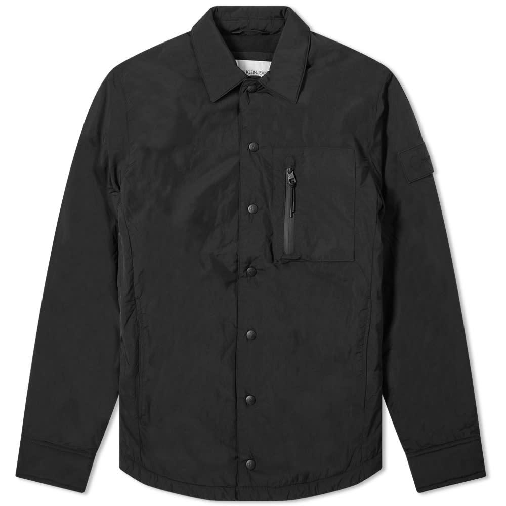 Calvin Klein Fleece Lined Overshirt - Black