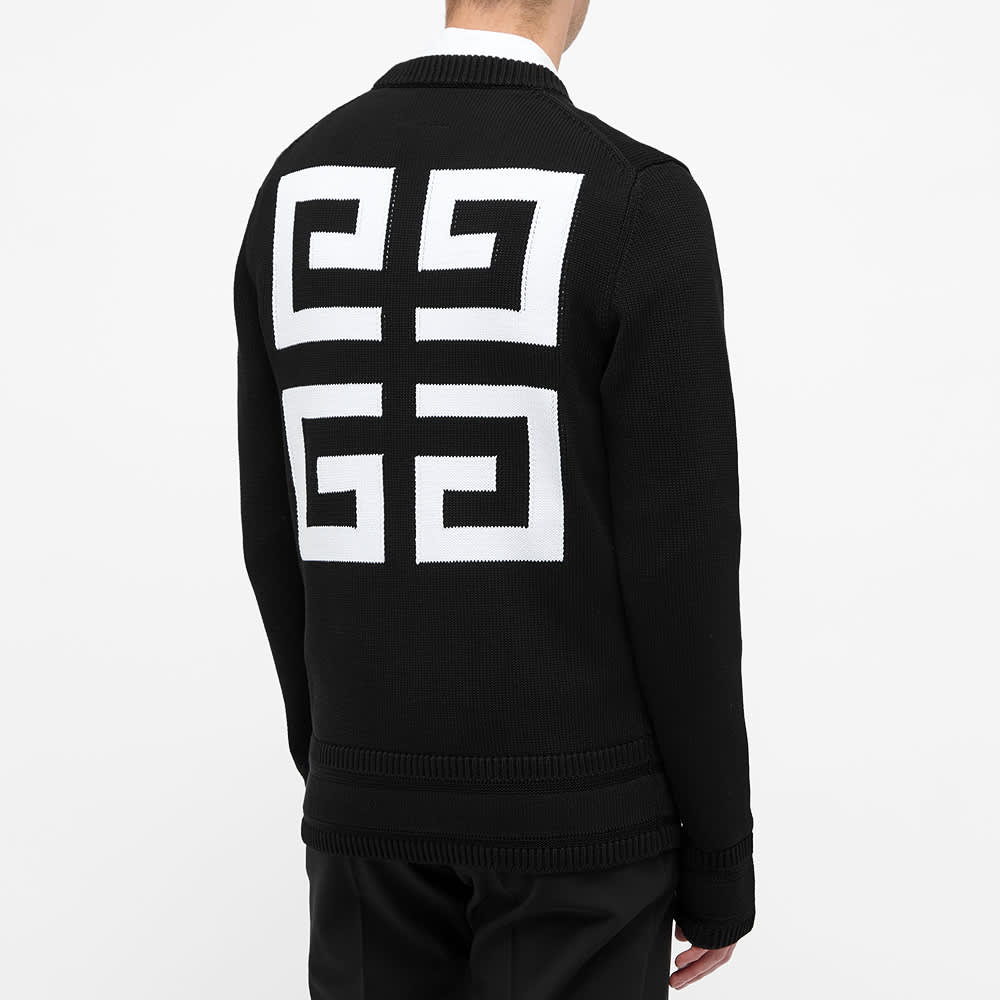 Givenchy 4G Logo Cotton Crew Knit - Black