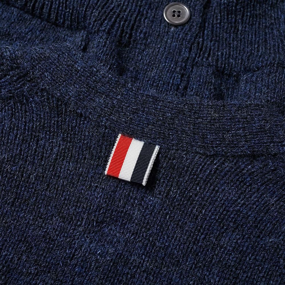 Thom Browne Arm Stripe Shetland Cardigan - Navy