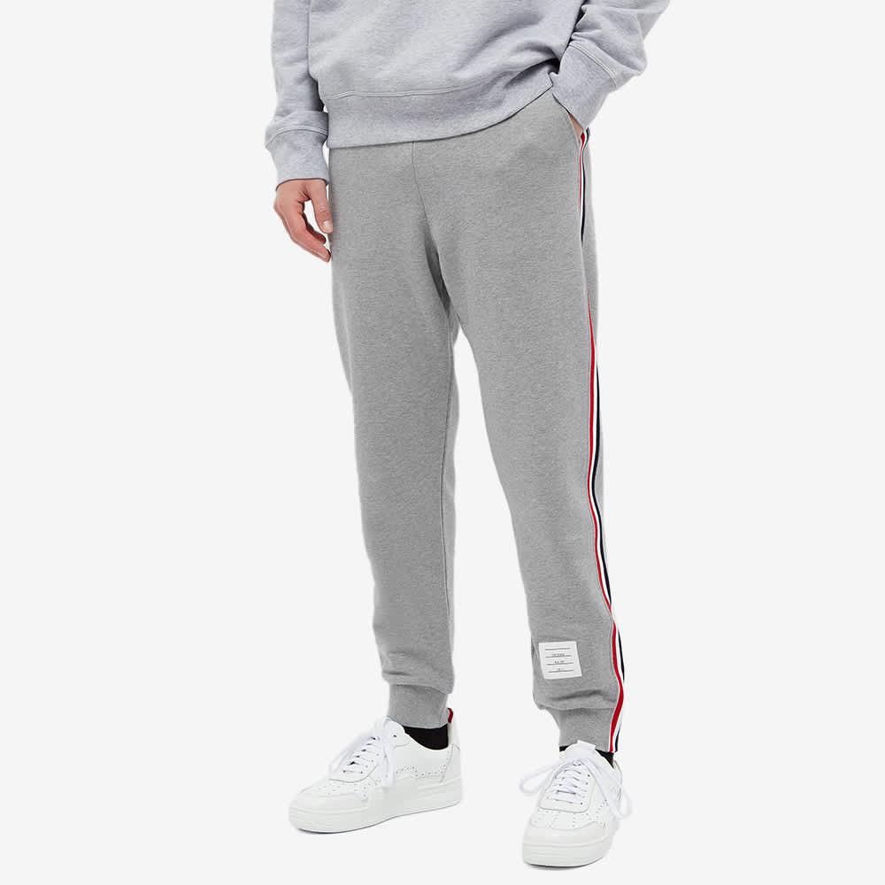 Thom Browne Tricolore Stripe Sweat Pant - Light Grey