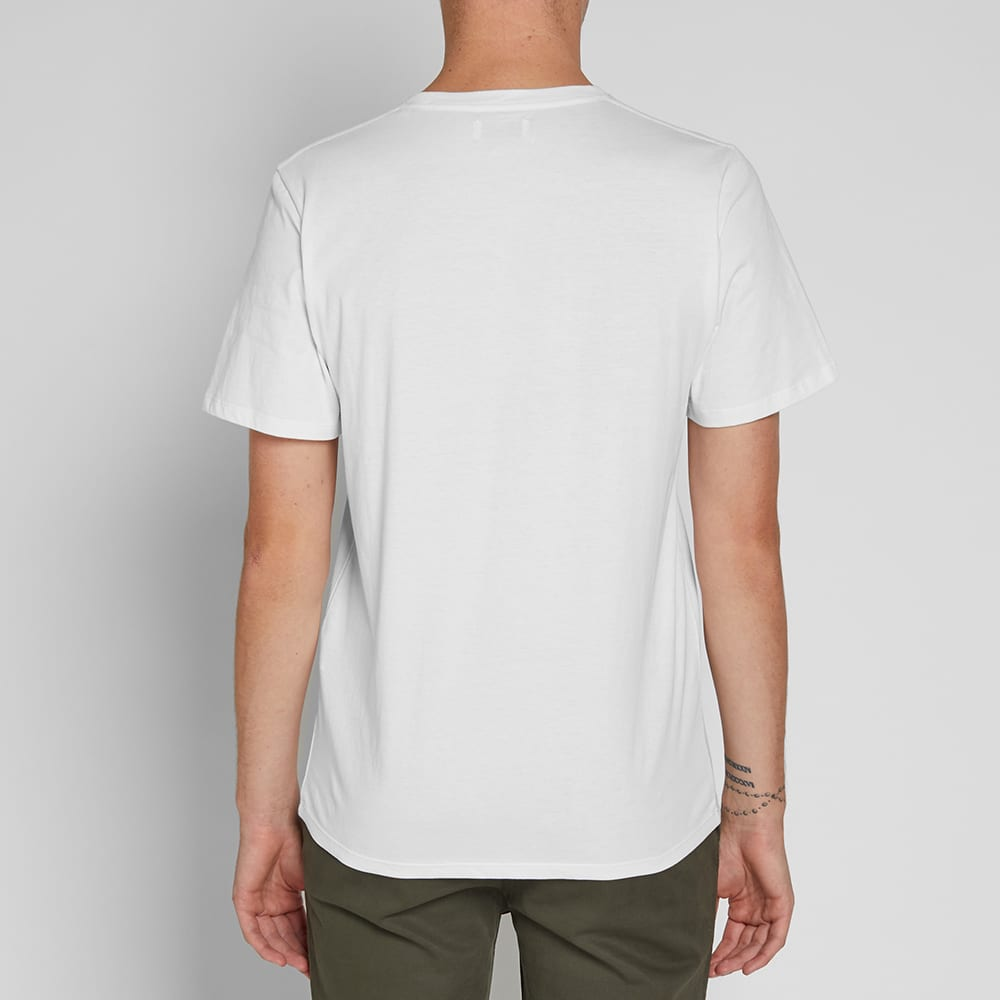 Saturdays NYC Pink Orchid Tee - White