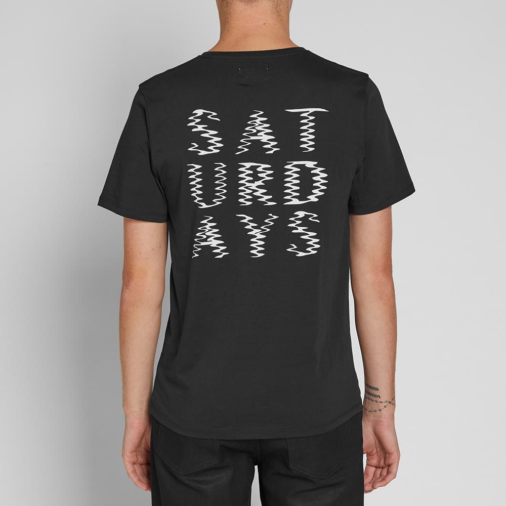 Saturdays NYC Ripple Tee - Black