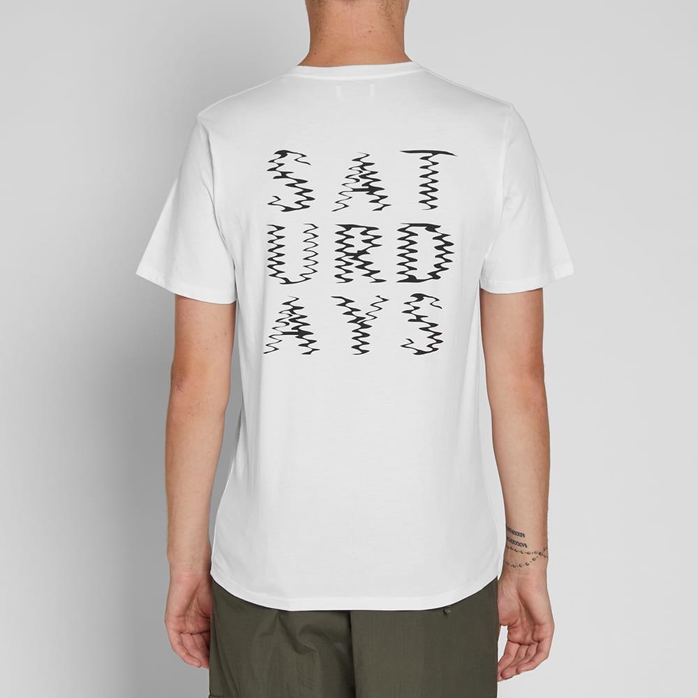 Saturdays NYC Ripple Tee - White