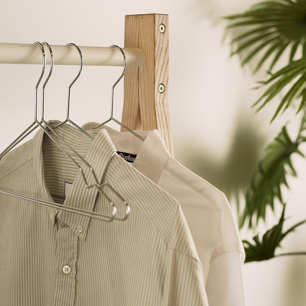 HAY Hang Coat Hangers - 5 Pack - Silver