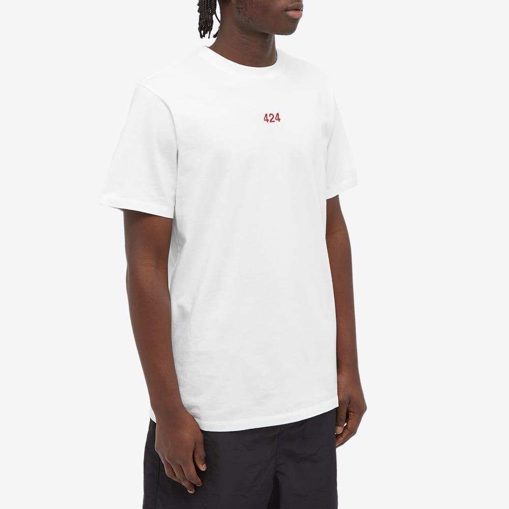 424 Alias Red Logo Tee - White