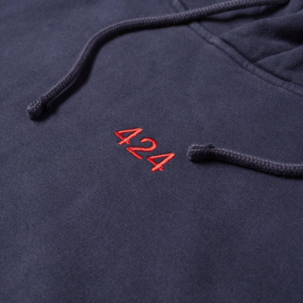 424 Alias Red Logo Popover Hoody - Blue