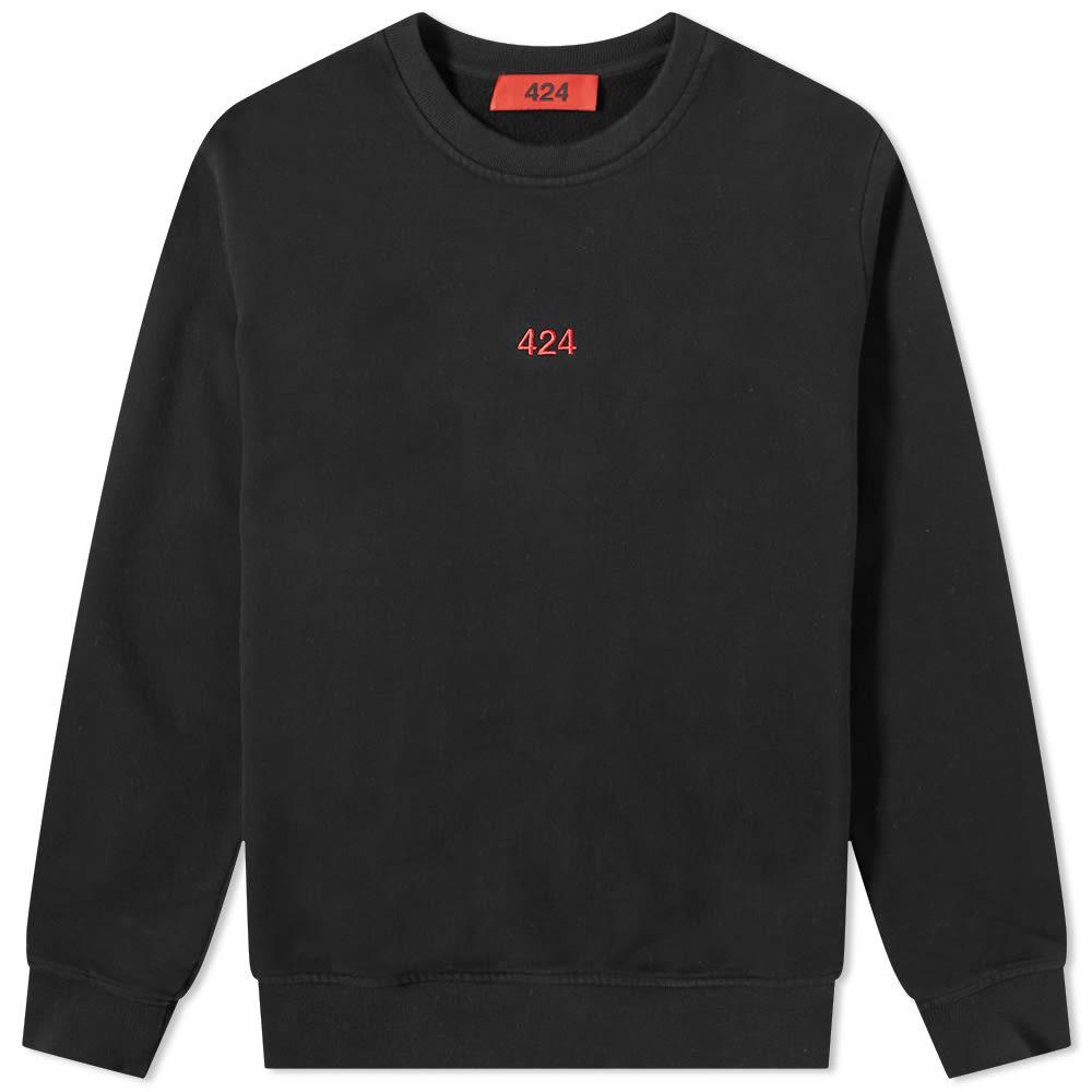 424 Alias Red Logo Crew Sweat - Black