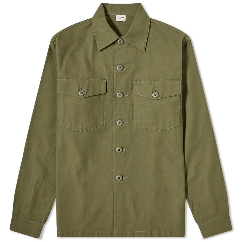 Maharishi Sateen Utility Shirt - Olive