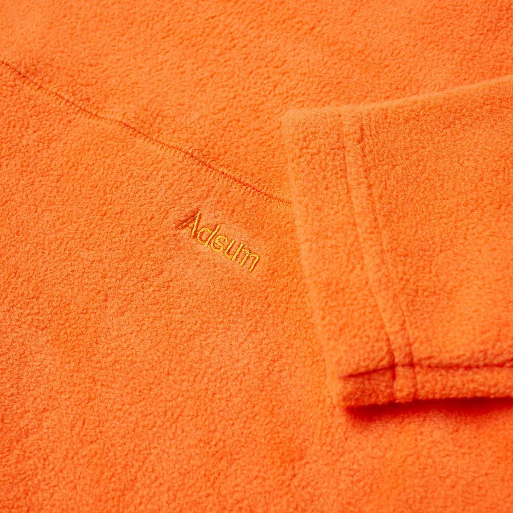 Adsum Mock Neck Fleece Sweat - Orangina
