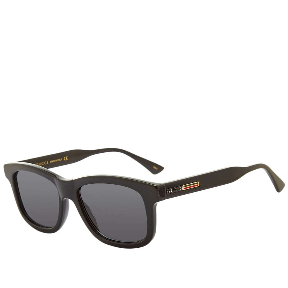 Gucci Round Frame Acetate Sunglasses - Black & Grey