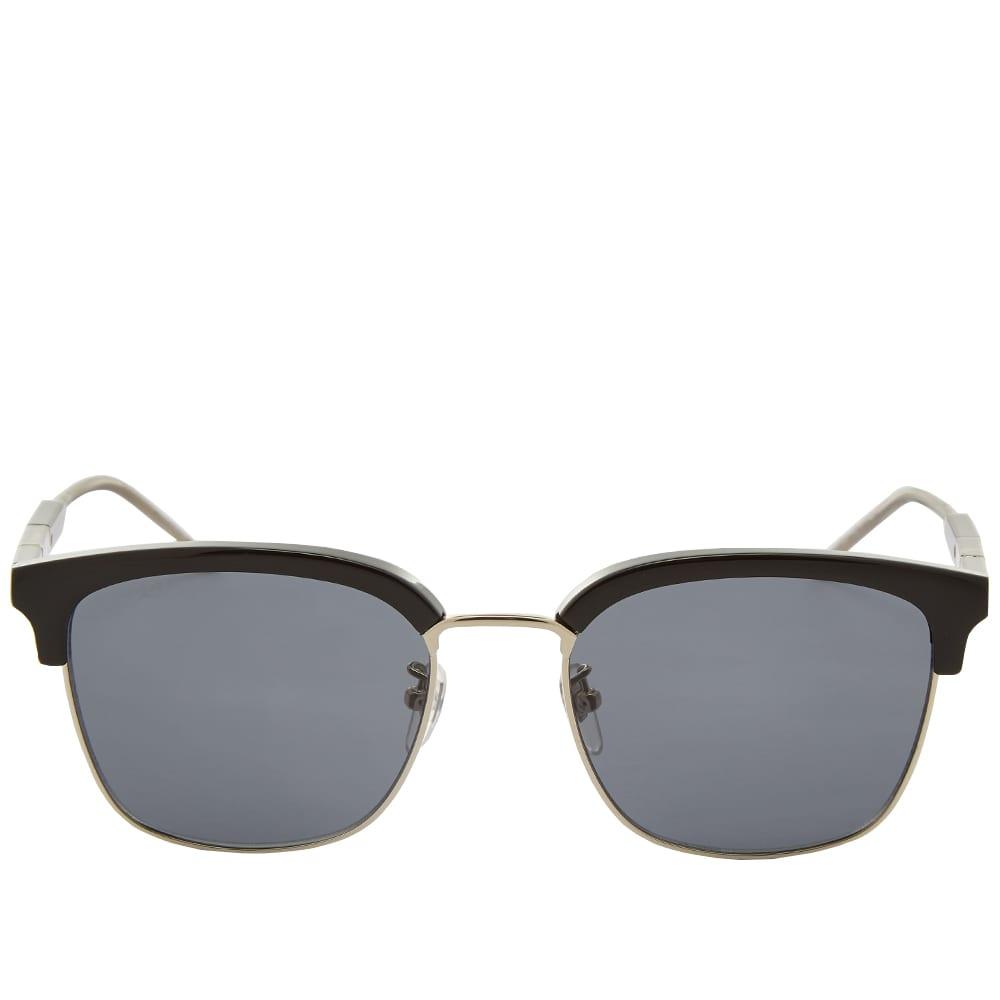 Gucci D-Frame Metal And Acetate Sunglasses - Black & Grey
