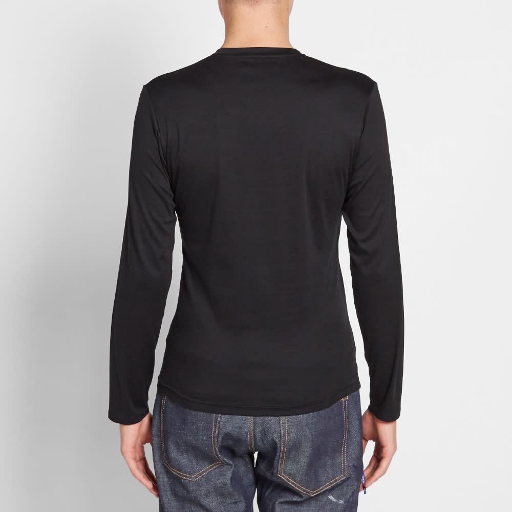 Vanquish Black Long Sleeve Supima Cotton Tee - Black