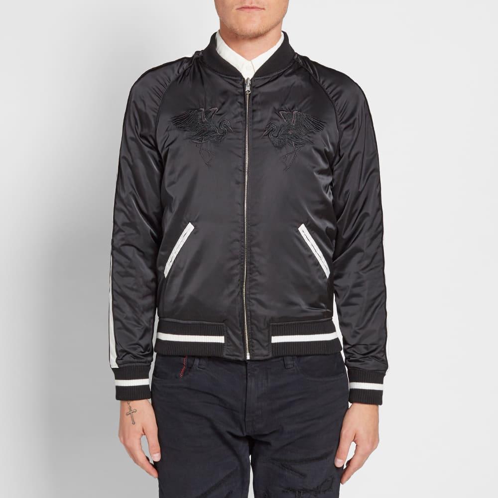 Vanquish Black Reversible MA-1 Souvenir Jacket - Black