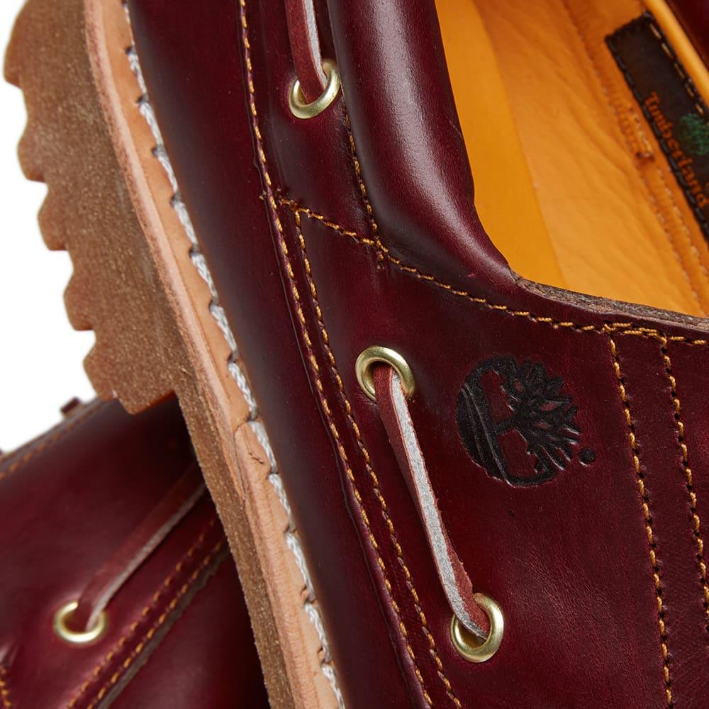 Timberland Authentic 3 Eye Classic Lug Shoe - Burgundy