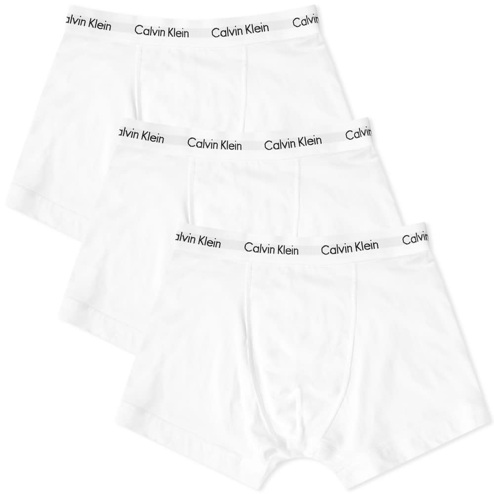Calvin Klein 3 Pack Trunk - White