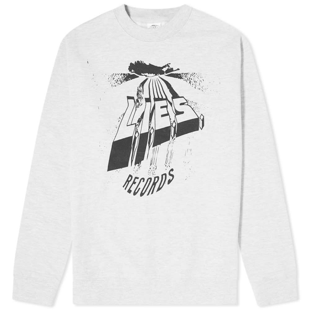 L.I.E.S. Records Warped Logo Crew Sweat by L.I.E.S. Records