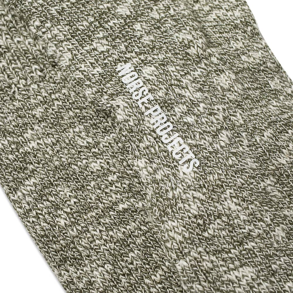 Norse Projects Ebbe Melange Sock - Ivy Green