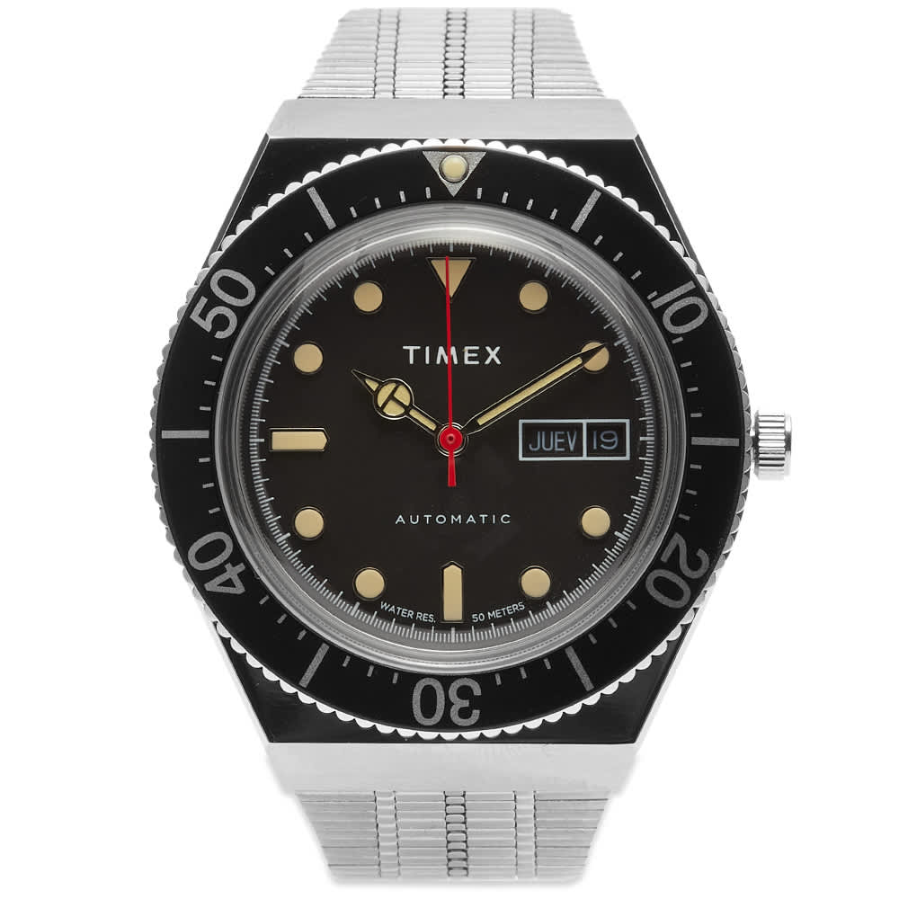 Timex M79 Automatic Watch - Silver & Black