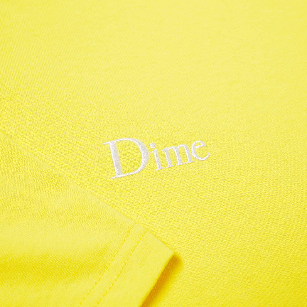 Dime Classic Small Logo Tee - Yellow