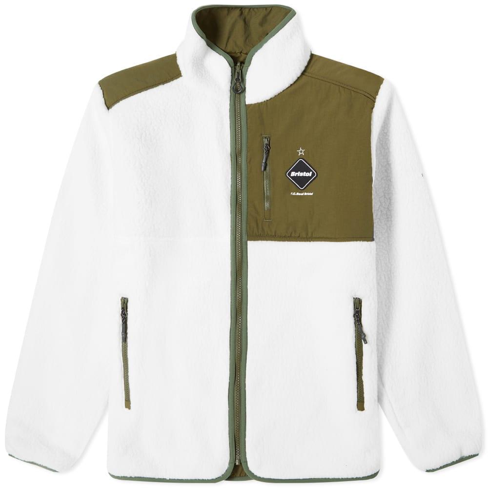F.C. Real Bristol Polartec Boa Fleece Reversible Blouson - White & Black