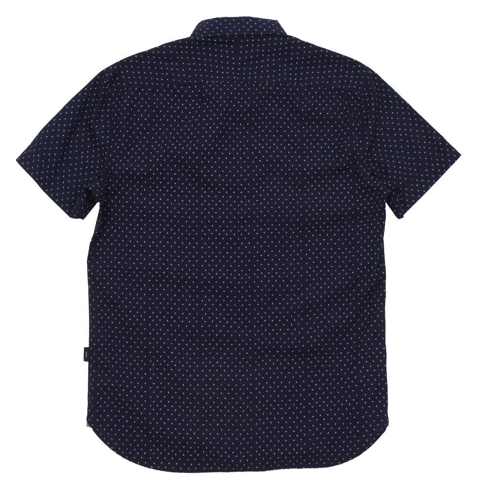 Paul Smith Cross Print SS Shirt - Navy