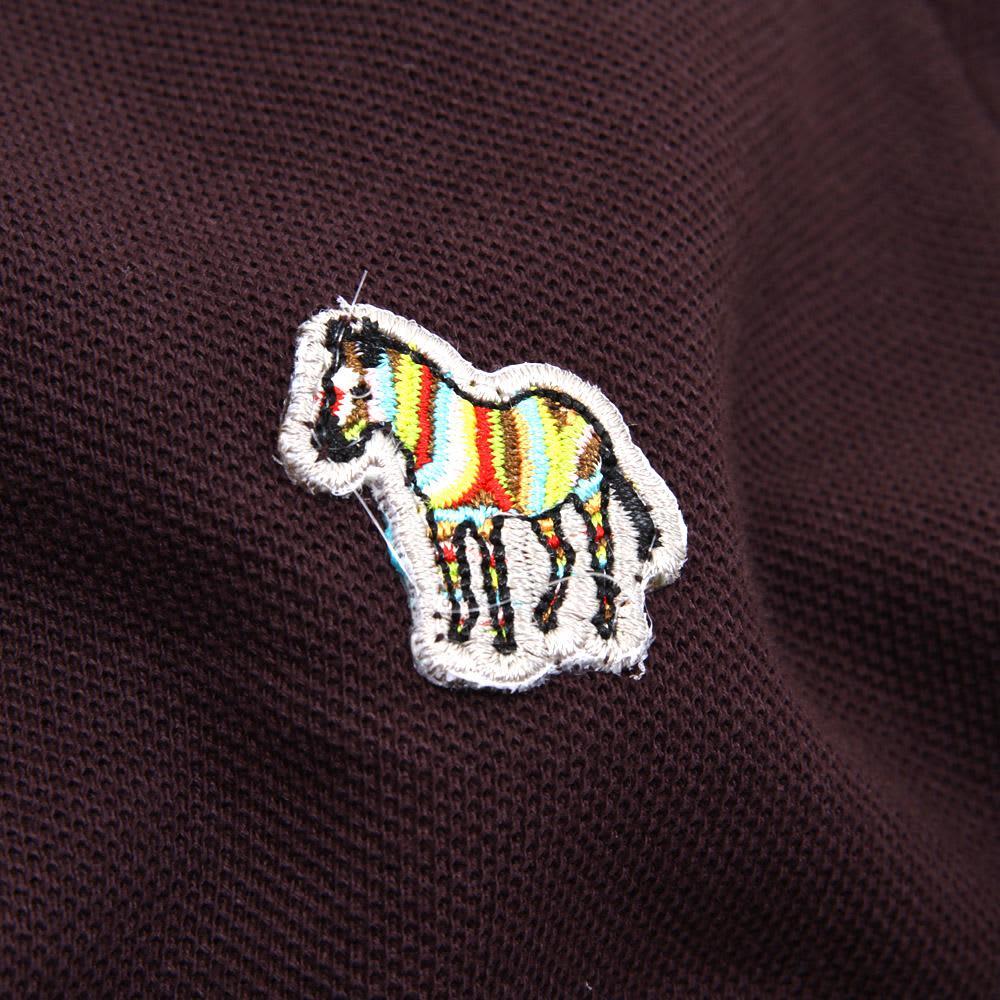 Paul Smith Long Sleeve Zebra Polo - Burgundy
