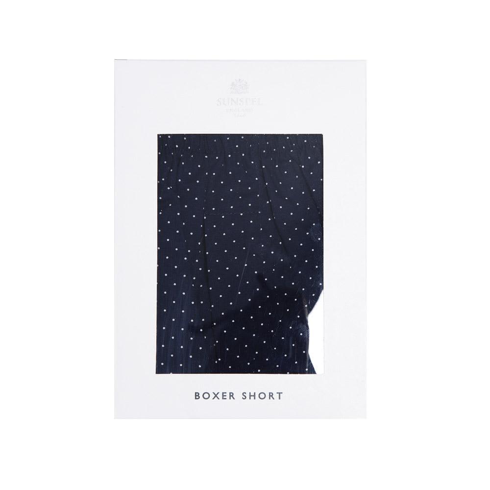 Sunspel Classic Boxer Short - Navy Polka Dot