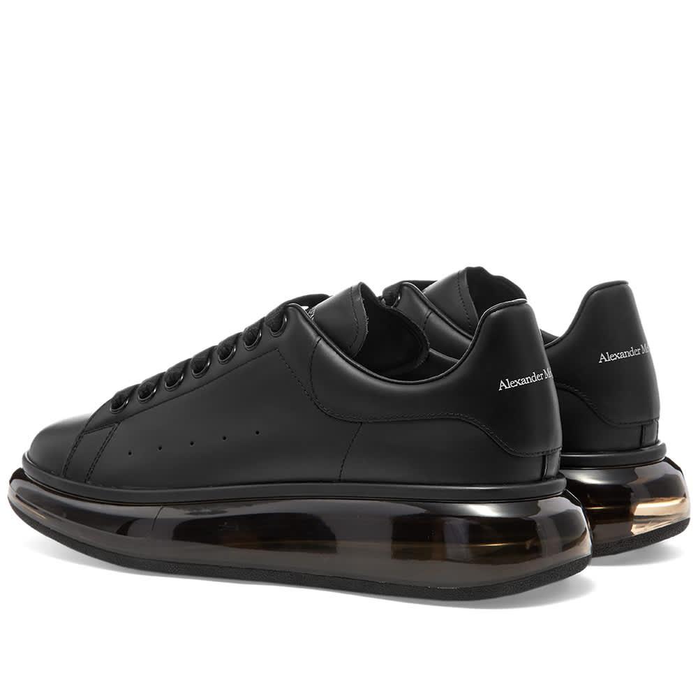 Alexander McQueen Air Bubble Wedge Sole Sneaker - Black & Black