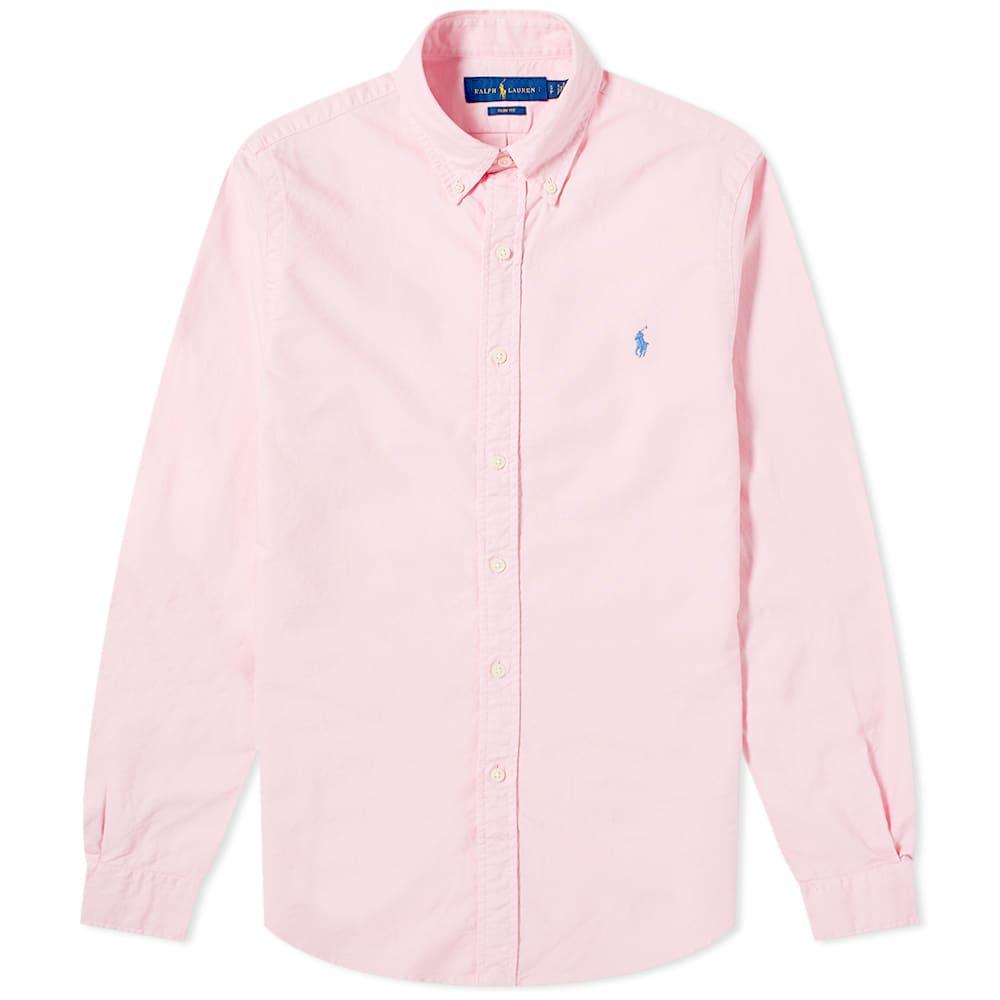 Polo Ralph Lauren Slim Fit Garment Dyed Button Down Oxford Shirt - Taylor Rose