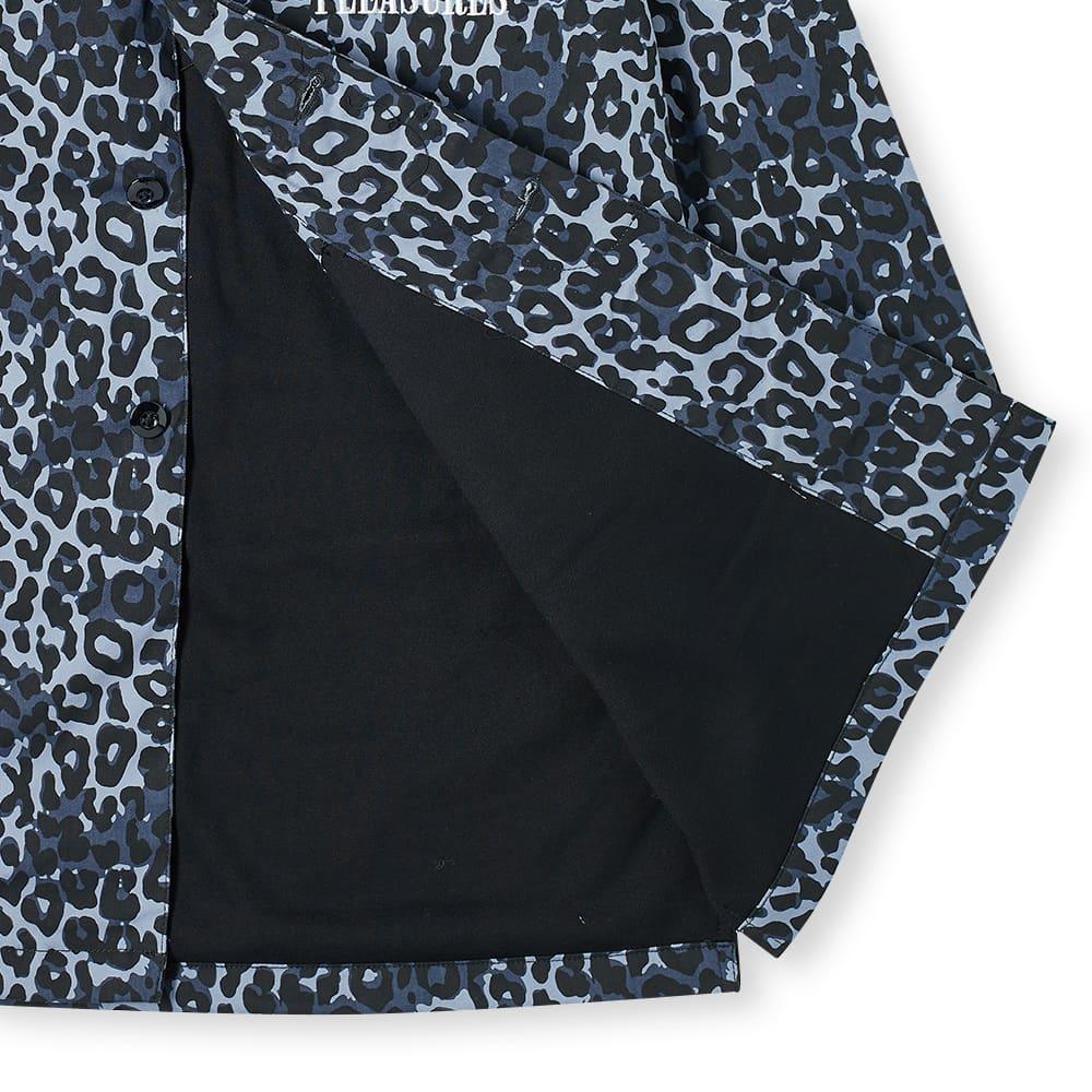 PLEASURES Grave Cheetah Trench Coat - Blue