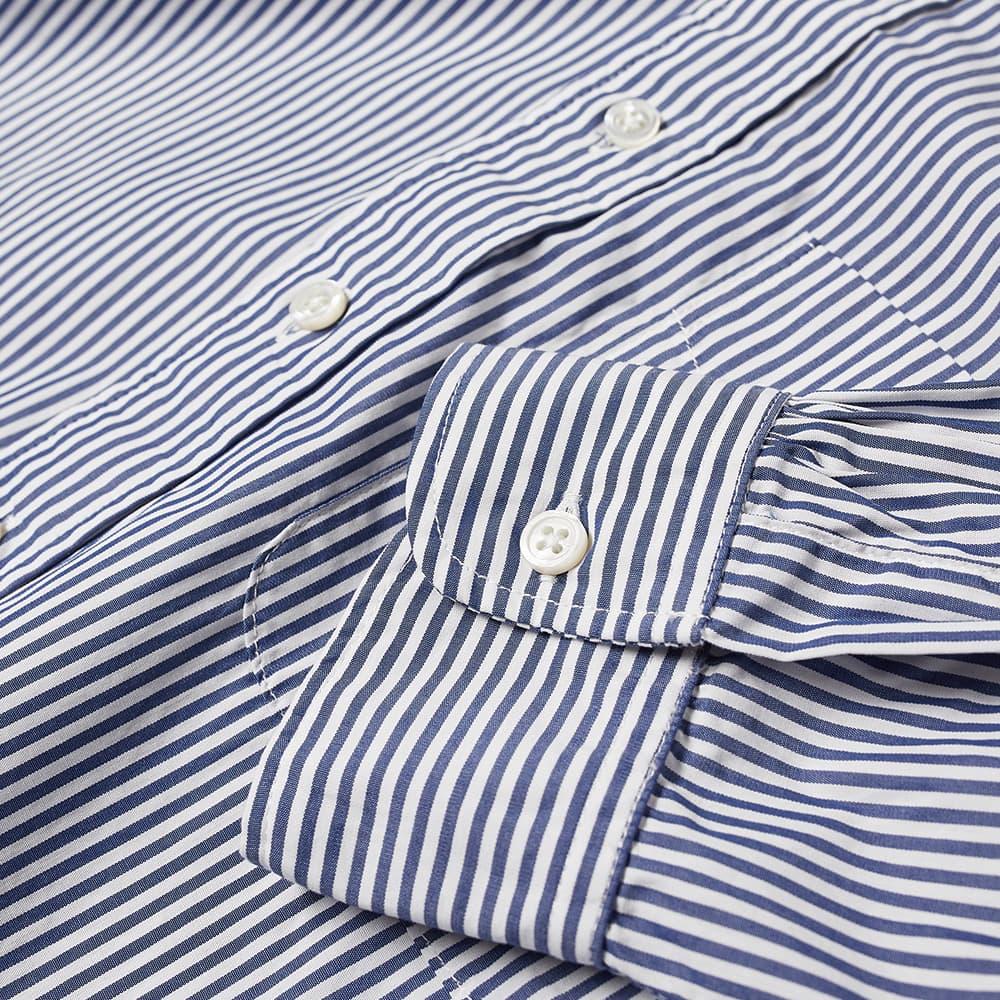 Engineered Garments 19Th Century Button Down Striped Shirt - Blue & White