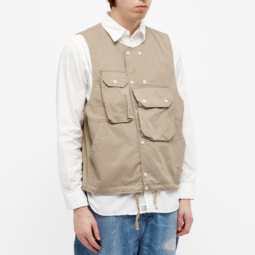 Engineered Garments Twill Cover Vest - Khaki
