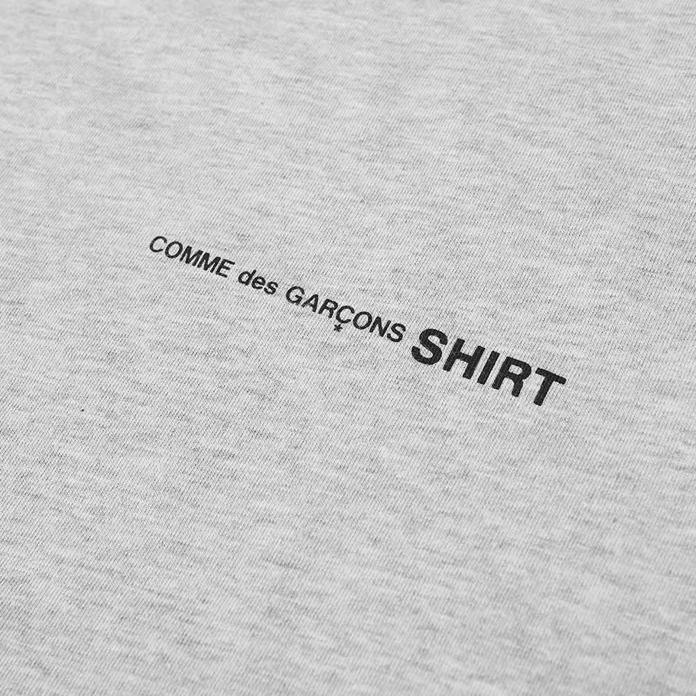 Comme des Garcons SHIRT Long Sleeve Logo Tee - Grey