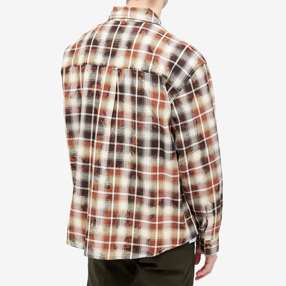 PACCBET Bleached Check Shirt - Brown