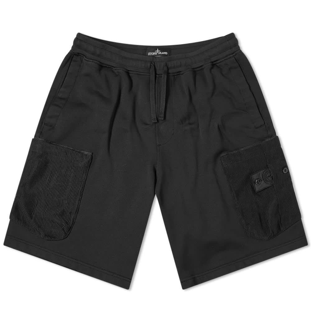 Stone Island Shadow Project Mesh Pocket Short - Black