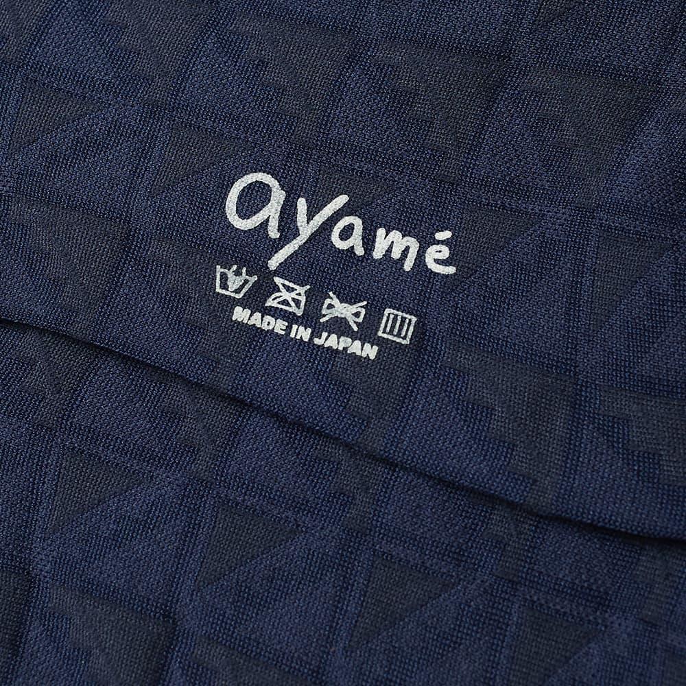 Ayame Socks Flag Solid Sock - Navy
