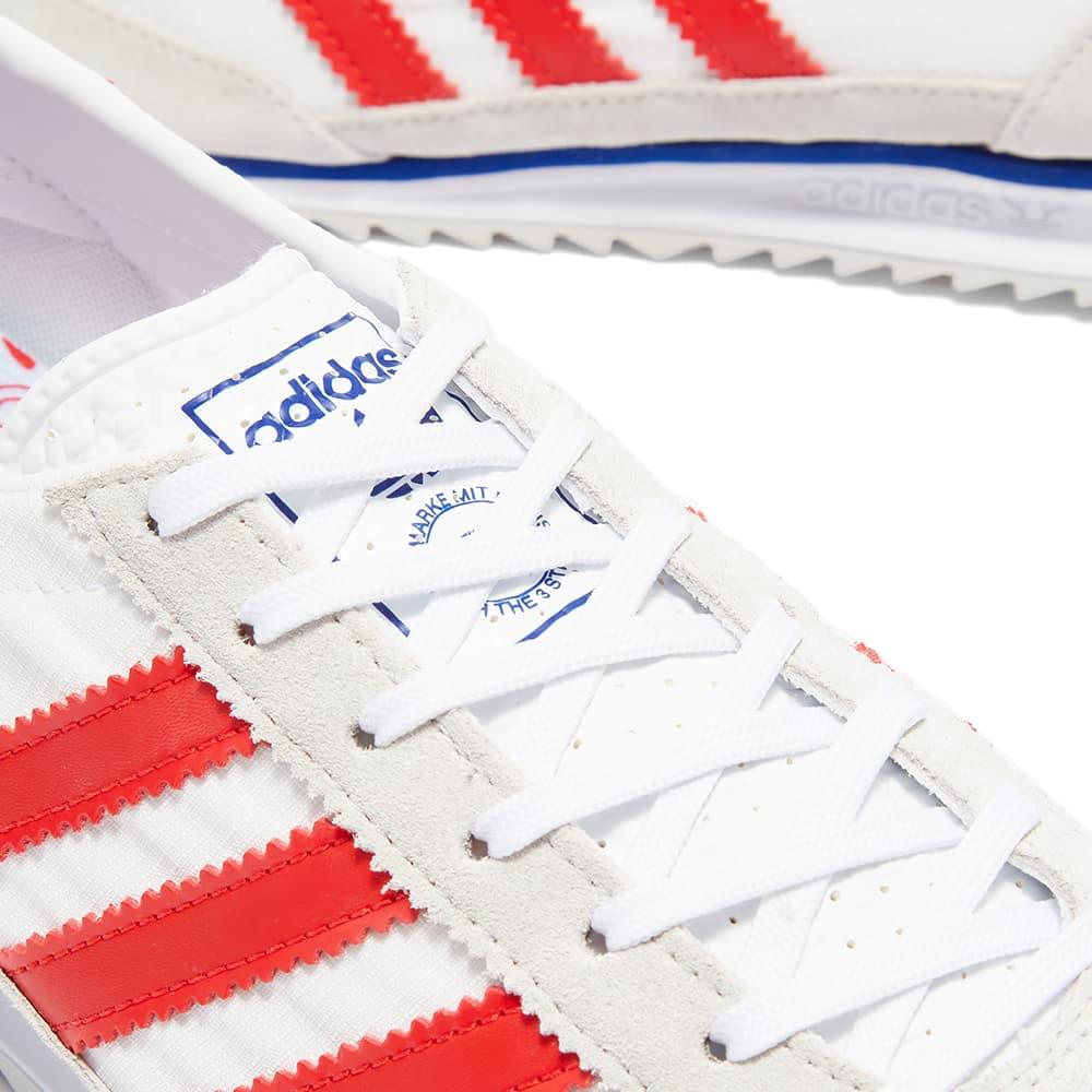 Adidas SL 72 - Grey, White & Vivid Red