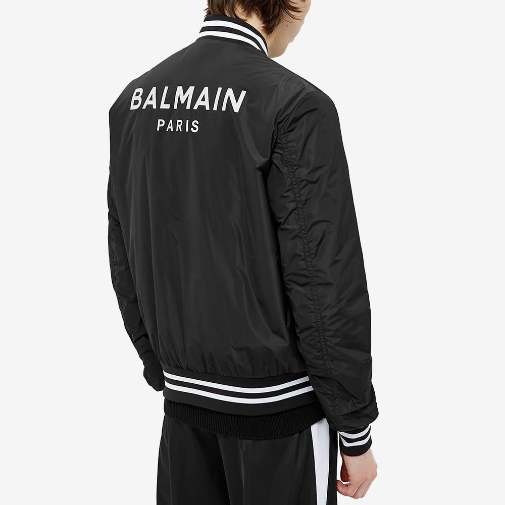 Balmain Varsity Bomber Jacket - Black