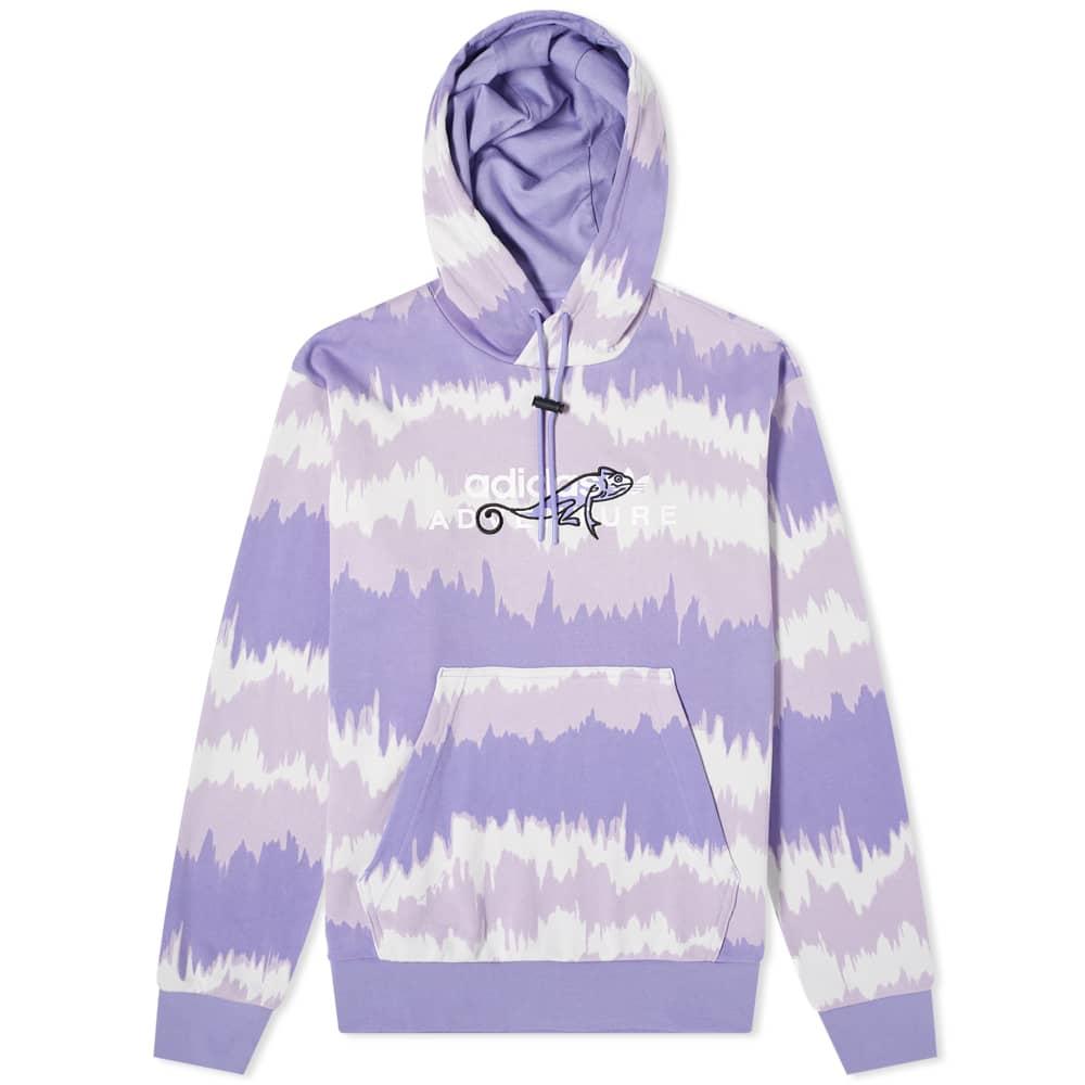 Adidas Retro Adventure Hoody - Light Purple & Multi