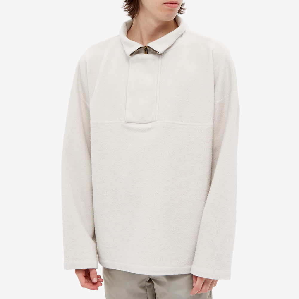 Fear of God Brushed 1/4 Zip Fleece Pullover - Concrete White