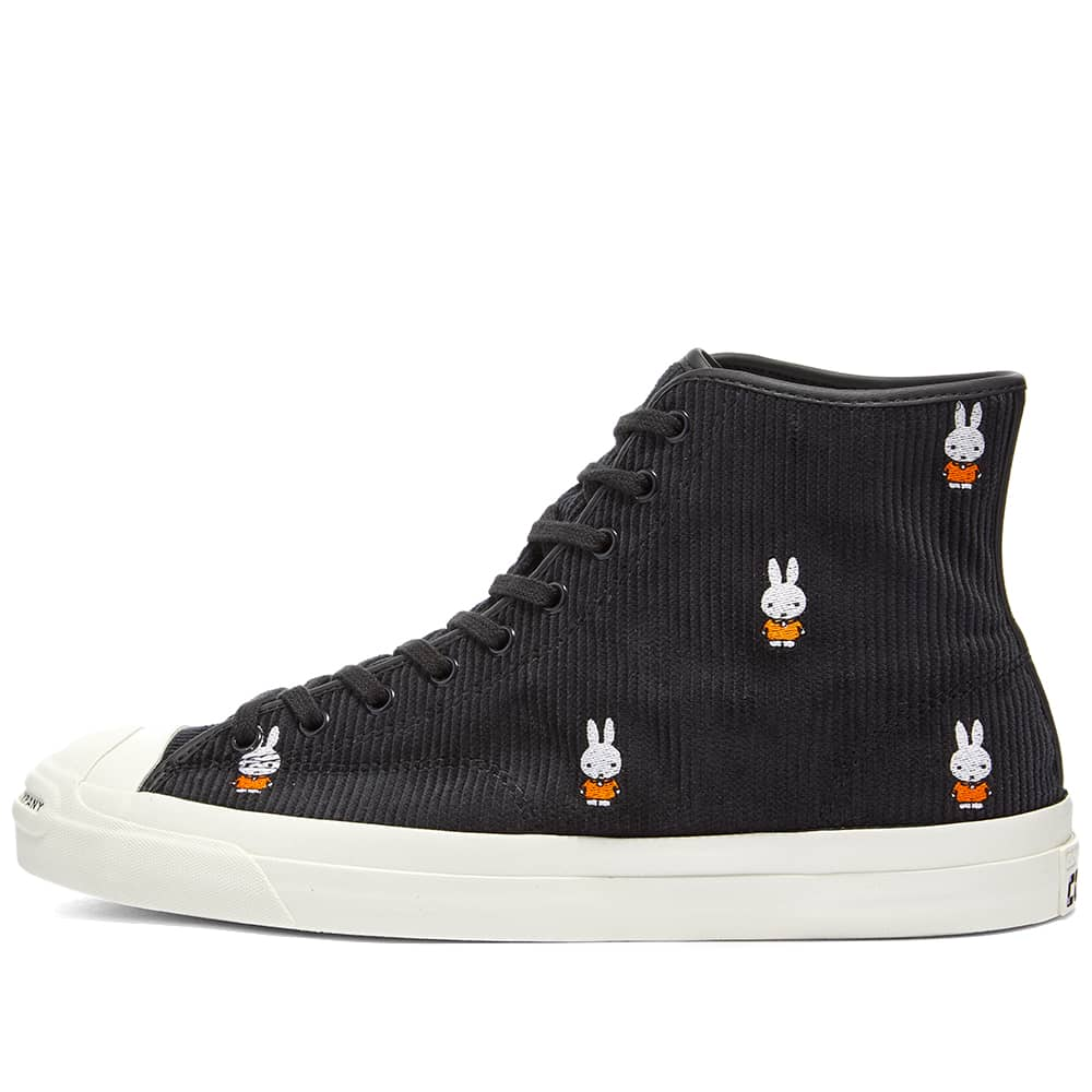 Converse x Pop Trading Company x Miffy Jack Purcell Pro - Black & White
