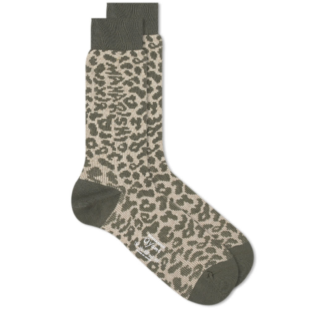 Ayame Socks X Maharishi Jacquard Camo Sock - Woodland