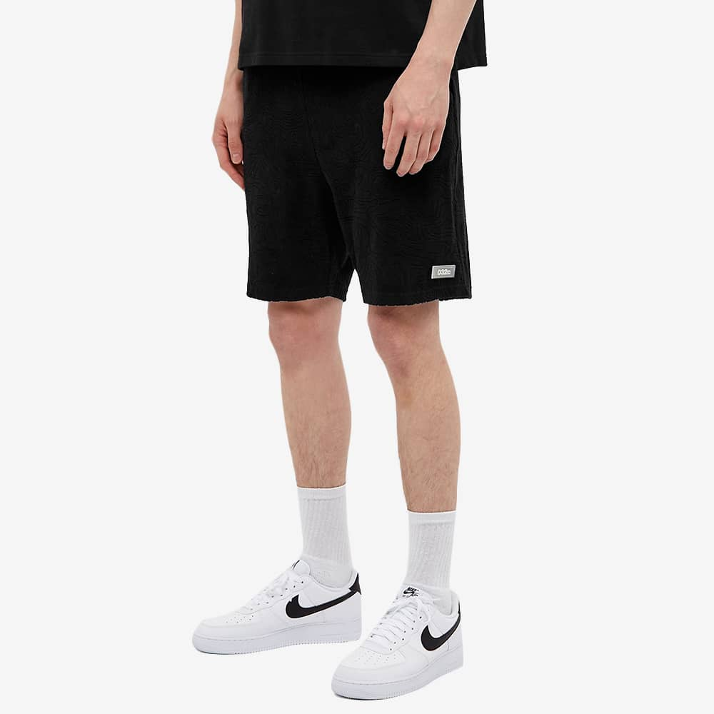 032c Topos Shaved Terry Short - Black