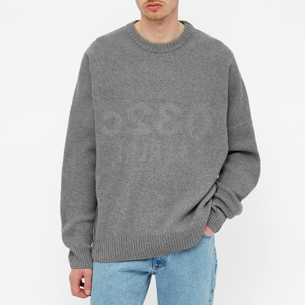 032c Selfie Reflective Knitted Sweat - Grey