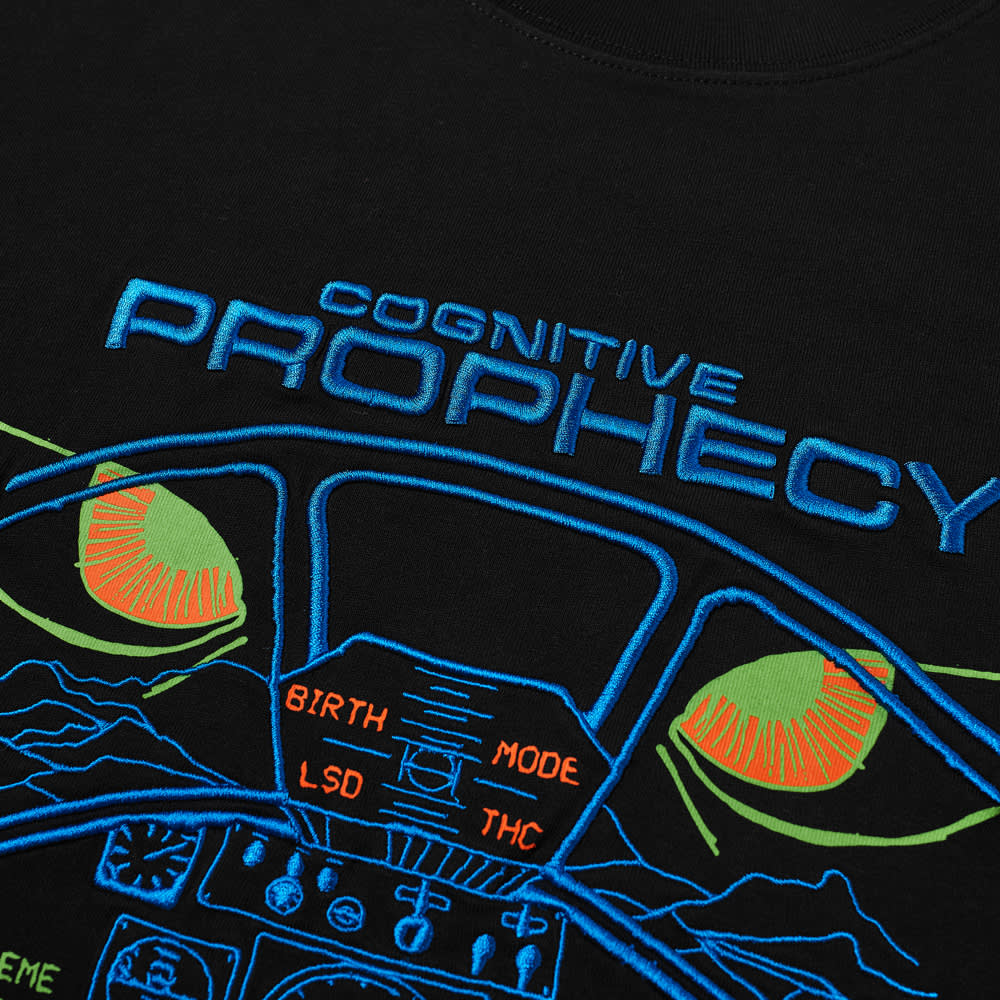 Brain Dead Cognitive Prophecy Tee - Washed Black
