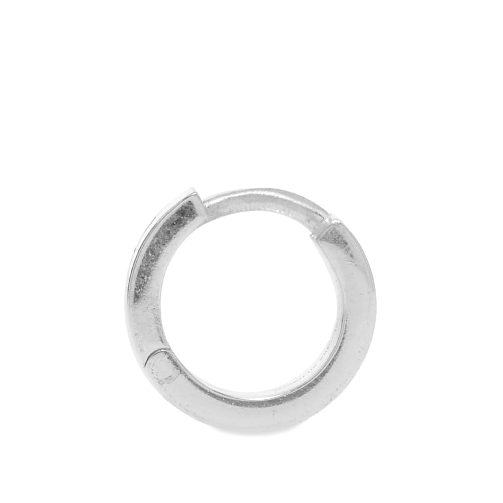 Le Gramme Polished Ribbon Earring - Silver 9g
