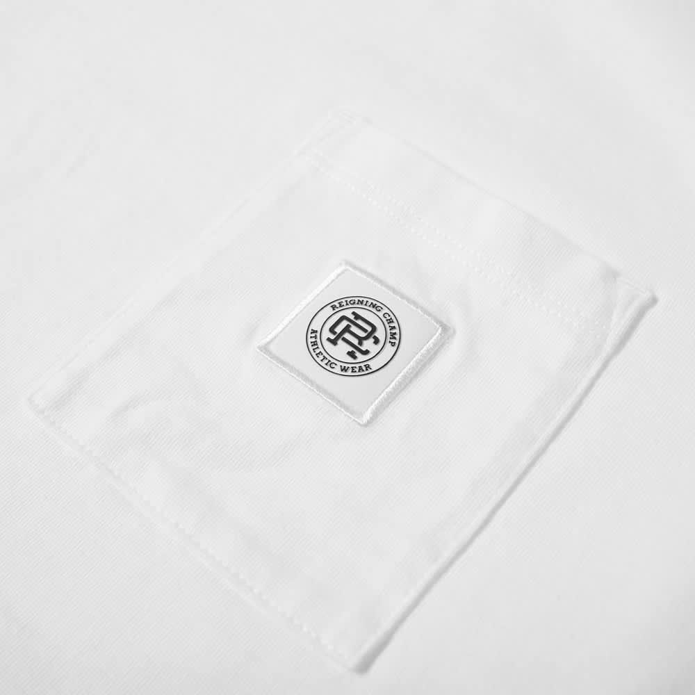 Reigning Champ Long Sleeve Logo Pocket Tee - White