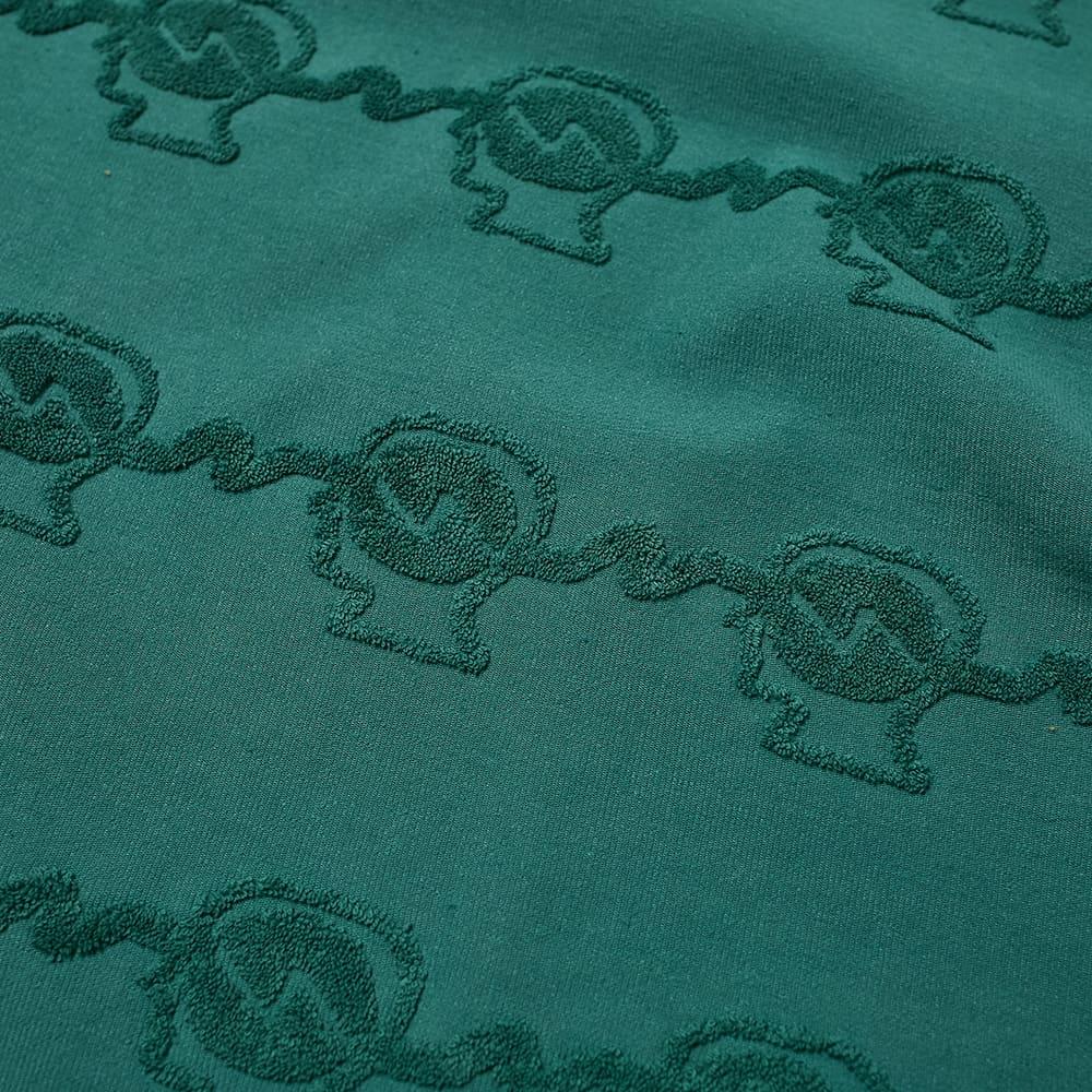 Brain Dead Running Head Textured Stripe Long Sleeve Tee - Mallard Green
