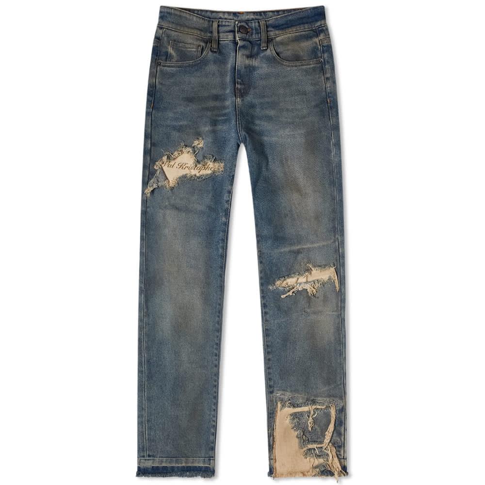 Val Kristopher Shredded Jean - Blue Sand